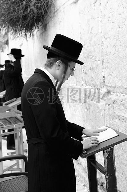 犹太教圣地哭墙的人图片