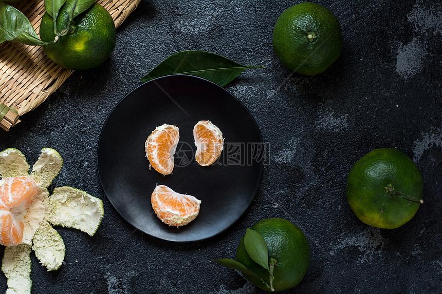 新鲜橘子素材图片