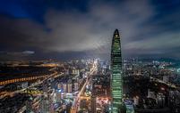 深圳夜景城市建筑风光图片