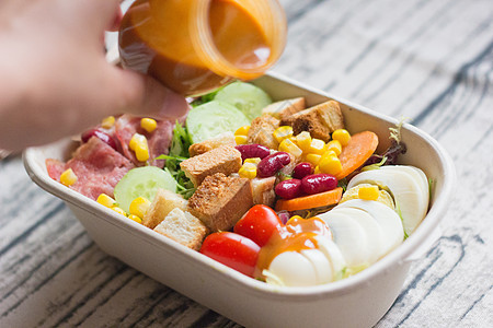 健康早餐蔬菜沙拉图片