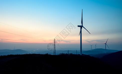 一望无际的发电风车图片