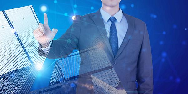 商务科技数据地图图片