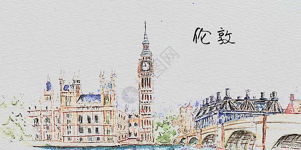 水彩伦敦图片