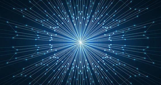 蓝色科技发散状背景图片