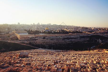 以色列耶路撒冷橄榄山犹太人公墓图片