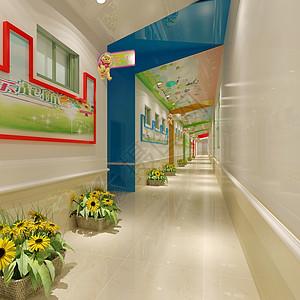 幼儿园走廊效果图图片