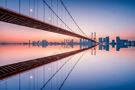 武汉风光夜景鹦鹉洲长江大桥图片