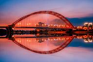 武汉黄昏晴川桥图片