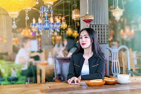 咖啡厅商务女性图片