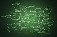 绿色科技电路背景图片