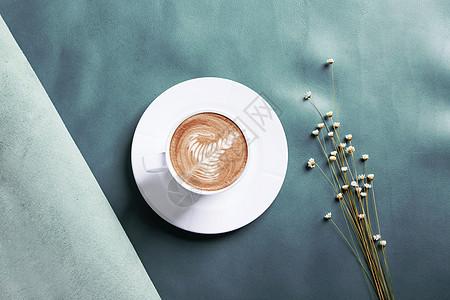 皮料上的咖啡图片