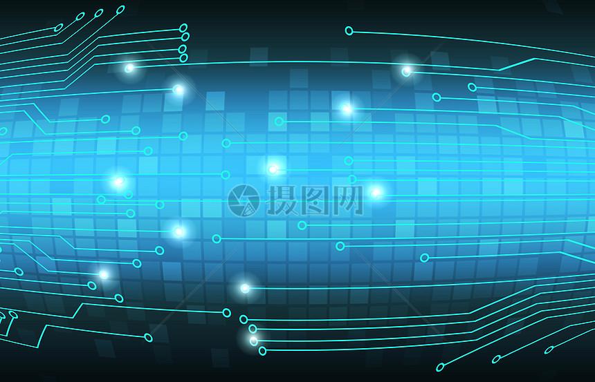 科技蓝色电路