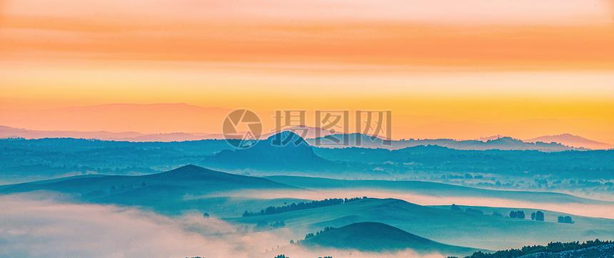 山川云雾晨光摄影图片免费下载_自然风景图库大全_-摄
