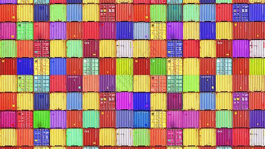 彩色集装箱图片