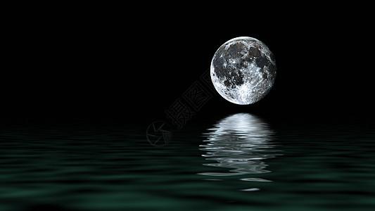 海面上的月亮倒影图片