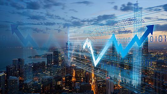 城市数字化信息图片