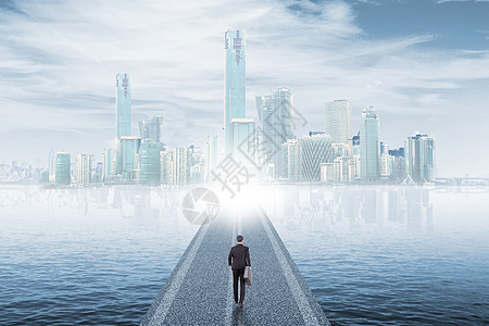 通往商务城市的大道图片