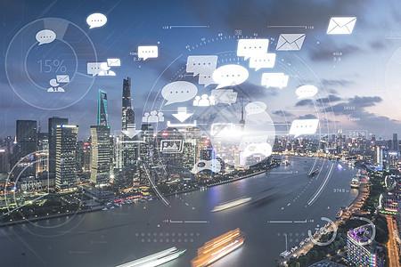城市中的信息化互联网发展图片