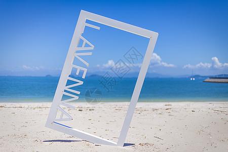 画中美丽沙滩图片