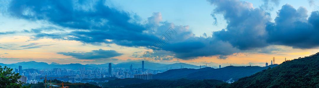 城市夕阳晚霞图片