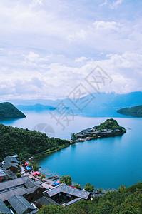泸沽湖景观图片