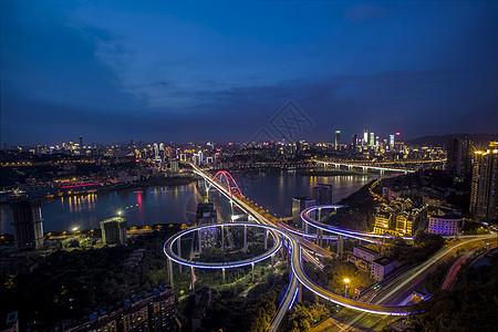 重庆立体交通夜景图图片