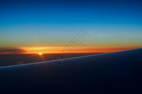 高空看日落图片