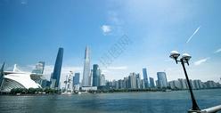 隔江而望广州国际金融中心图片