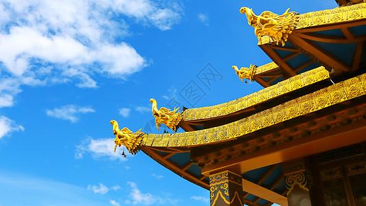 藏族建筑屋檐图片