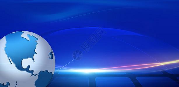 全球化空间感科技背景图片