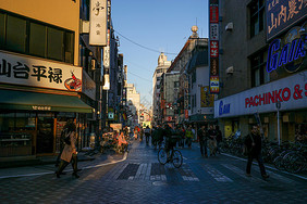 东京购物街景图片