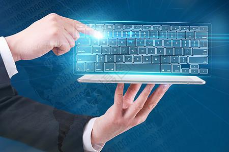 平板上的虚拟键盘图片
