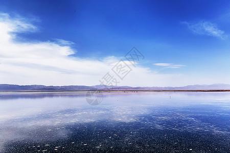 青海茶卡盐湖天空之镜图片