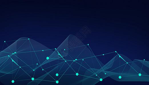 蓝色线条科技背景高清图片