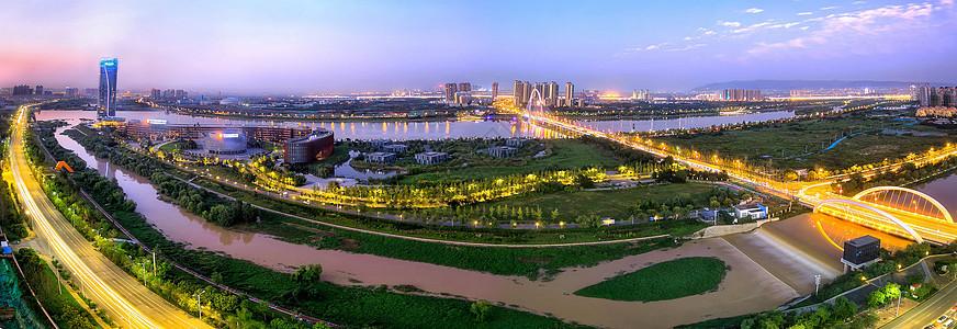 西安浐灞全景图片