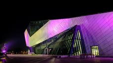 长沙博物馆新河三角洲滨江文化园夜景图片