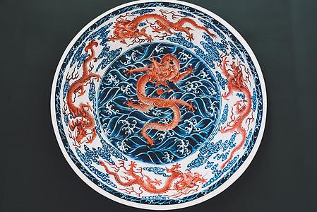 中国特色交趾龙盘图片