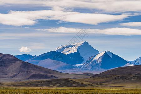 雪山下的草原图片