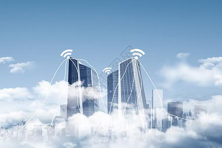 城市空中互联网共享图片