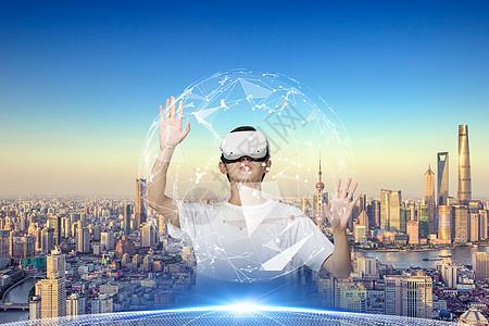 体验VR眼镜男士图片