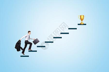 成功的阶梯图片