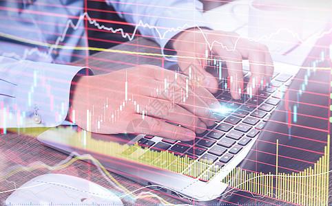 股票市场经济和金融外汇交易图片