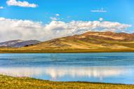 西藏高山湖水美景图片