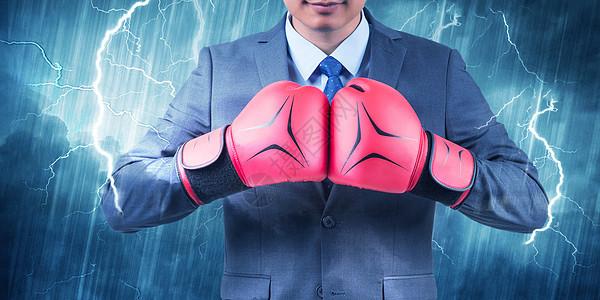 拳击手套和雷电图片