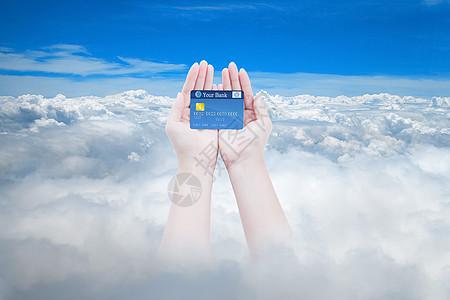 手持银行卡图片