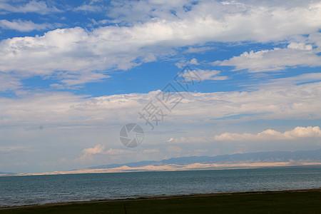 青海蓝天白云大海图片
