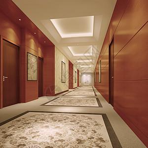 现代走廊效果图图片