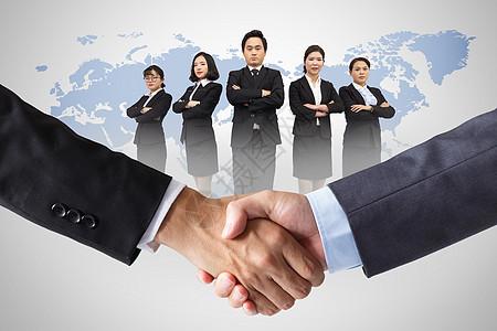 商务握手合作图片