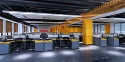 大型办公区效果图图片