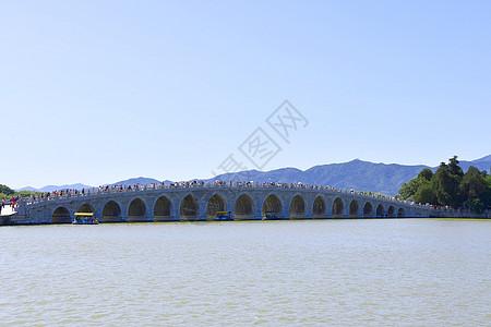 颐和园十七孔桥图片